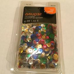 1 new package assorted round sequins glue