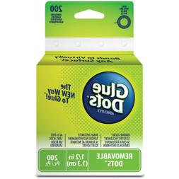 """Glue Dots 1/2"""" Removable Dot Roll-200 Clear Dots"""