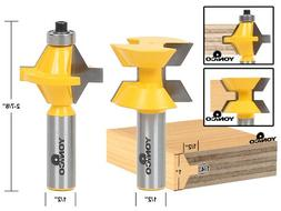 Yonico 15223 Matched Tongue and Groove Router Bit Set with E