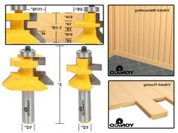 NEW Yonico 15227 Matched Tongue and Groove V Notch Router Bi