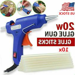 20W 110V Hot Melt Glue Gun Repair Tool Heat Gun with 7mm 10x
