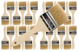 24 Pk- 2 1/2 inch Chip Paint Brushes for Paint, Stains,Varni