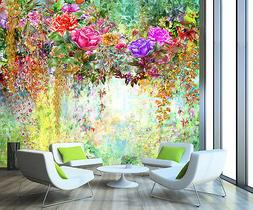 3D Blooming flowers Wall Paper Wall Print Decal Wall Deco In