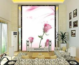 3D Blooming flowers Wall Print Decal Wall Deco Indoor wall M