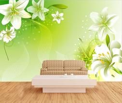 3D Blooming lilies 66 Wall Paper Print Wall Decal Deco Indoo