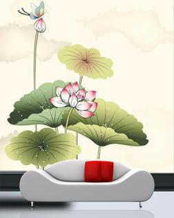 3D Blooming lotus 24 Wall Paper Wall Print Decal Wall Deco I