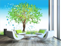 3D Blooming tree 234 Wall Paper Print Wall Decal Deco Indoor