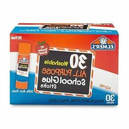 Elmer's Washable School Glue Sticks, 30/Box, Case of 2 Boxes