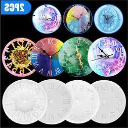 Epoxy Casting Mold Silicone Molds Crystal Glue Clock Resin M