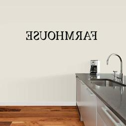 Farmhouse Wall Decal - Kitchen, Dining, Family, Entryway, Fa