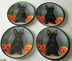 Halloween Scotty Dog Dracula Melamine Tidbit Candy Side Plat