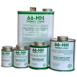 RH Adhesives HH-66 Clear Vinyl Cement Glue with Brush Indust