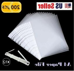 Sleeves Sheet Protector Clear Plastic Page Office Documents