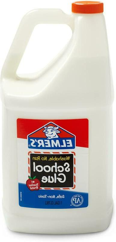 Liquid School Glue Washable Non Toxic for Making Slime 2 Count