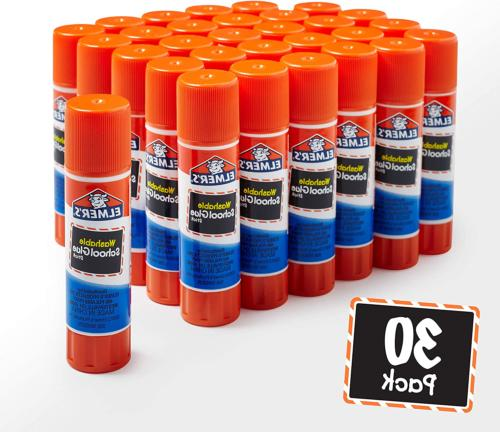 Elmers Glue Stick Washable Purpose Safe Crafts 30 Pack SHIPPING