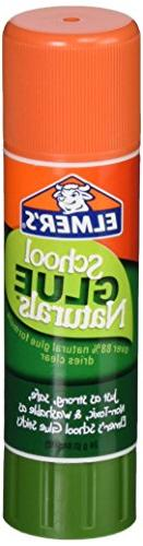 ELMERS School Glue Naturals Clear 0.77 Oz Stick