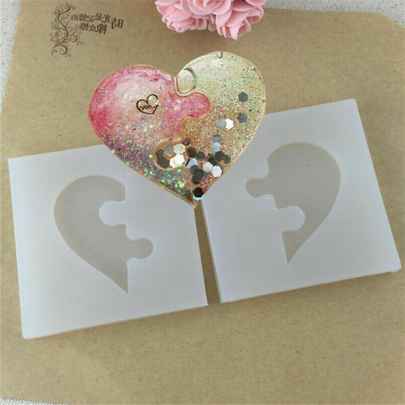 Silicone Puzzle Heart Resin Mold DIY