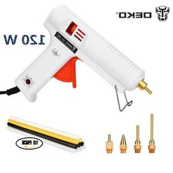 120W Hot Melt Glue Gun 10pcs Glue Sticks DIY Repair Kit Temp