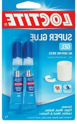 NEW Loctite Super Glue Gel, Two 2-Gram Tubes  Twin Pack with