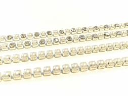 Sew or Glue on Diamante Chain With Pearl Design for Art & Cr