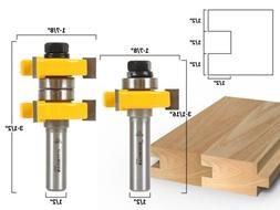 "1-1/2"" 2 Bit Tongue and Groove Router Bit Set - Yonico 15224"