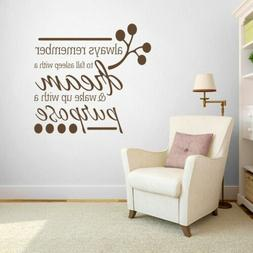 Wake Up With A Purpose Wall Decal - Bedroom, Family, Living